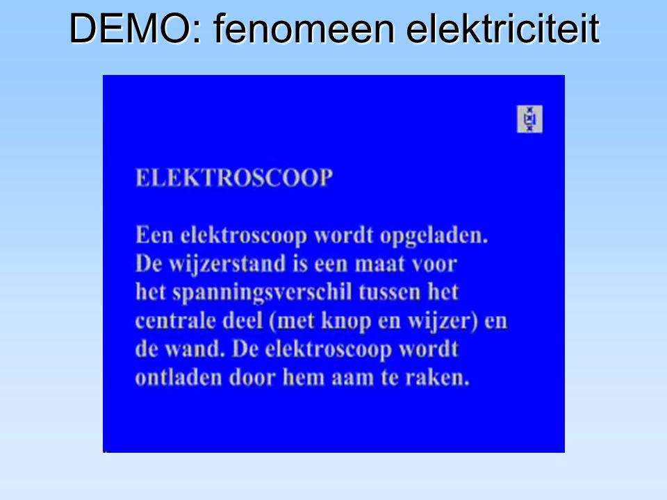 DEMO: fenomeen elektriciteit