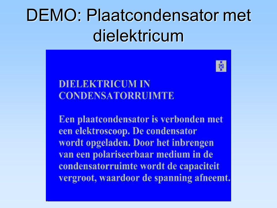 DEMO: Plaatcondensator met dielektricum