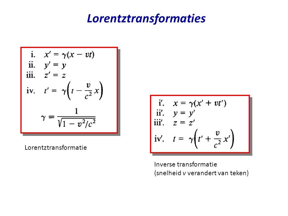 Lorentztransformaties