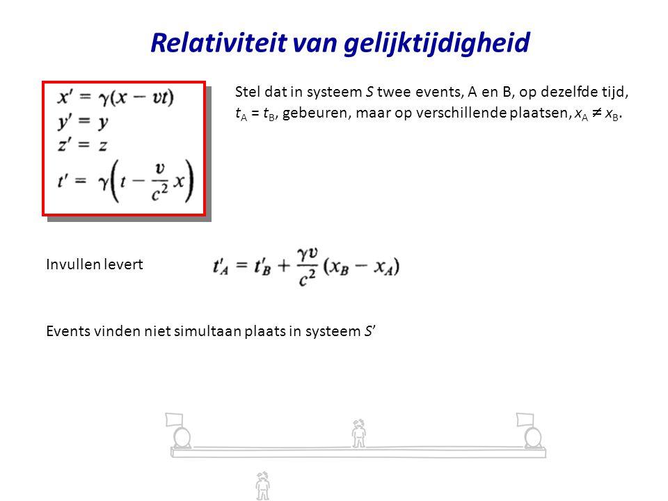 Relativiteit van gelijktijdigheid