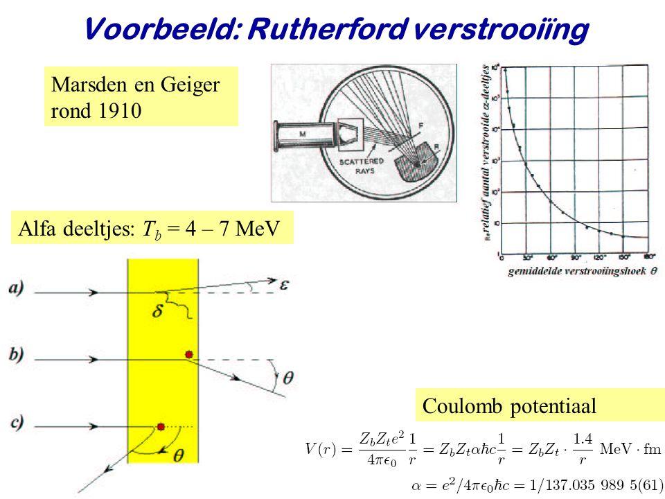 Voorbeeld: Rutherford verstrooiïng