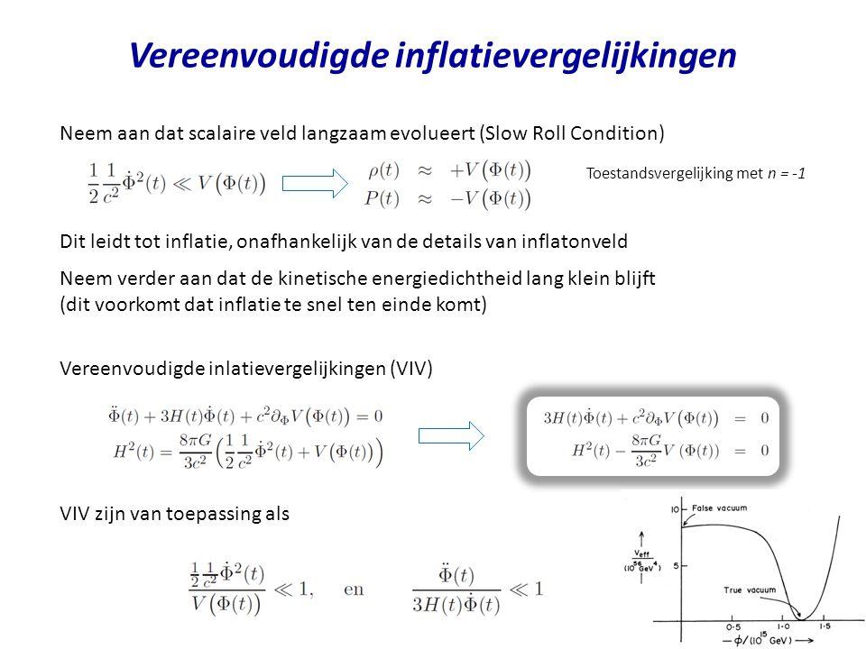 Vereenvoudigde inflatievergelijkingen