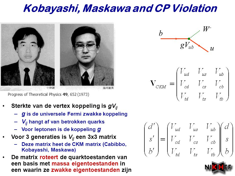Kobayashi, Maskawa and CP Violation