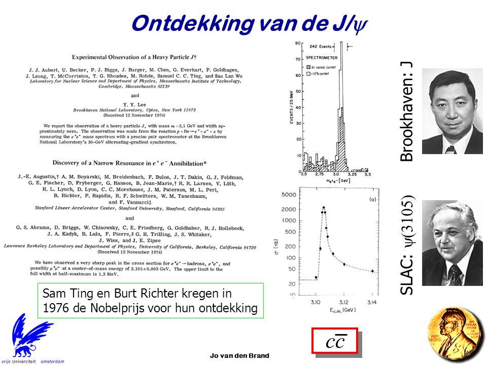 Ontdekking van de J/y cc Brookhaven: J SLAC: y(3105)