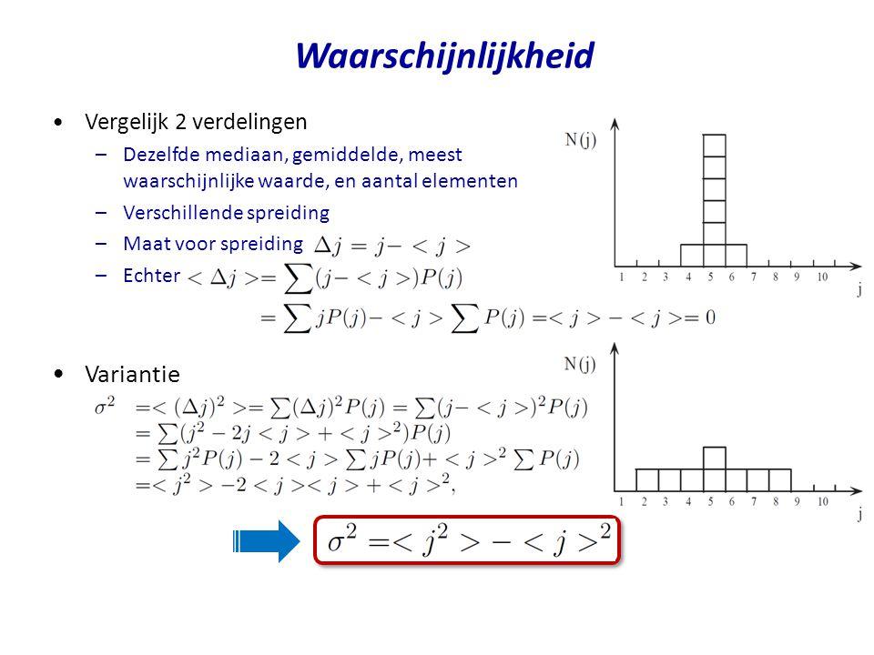 Waarschijnlijkheid Variantie Vergelijk 2 verdelingen