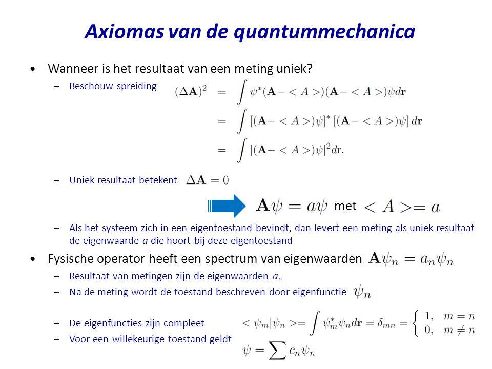 Axiomas van de quantummechanica