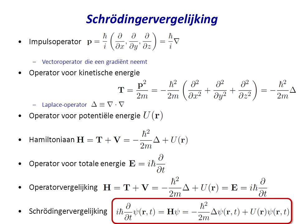 Schrödingervergelijking