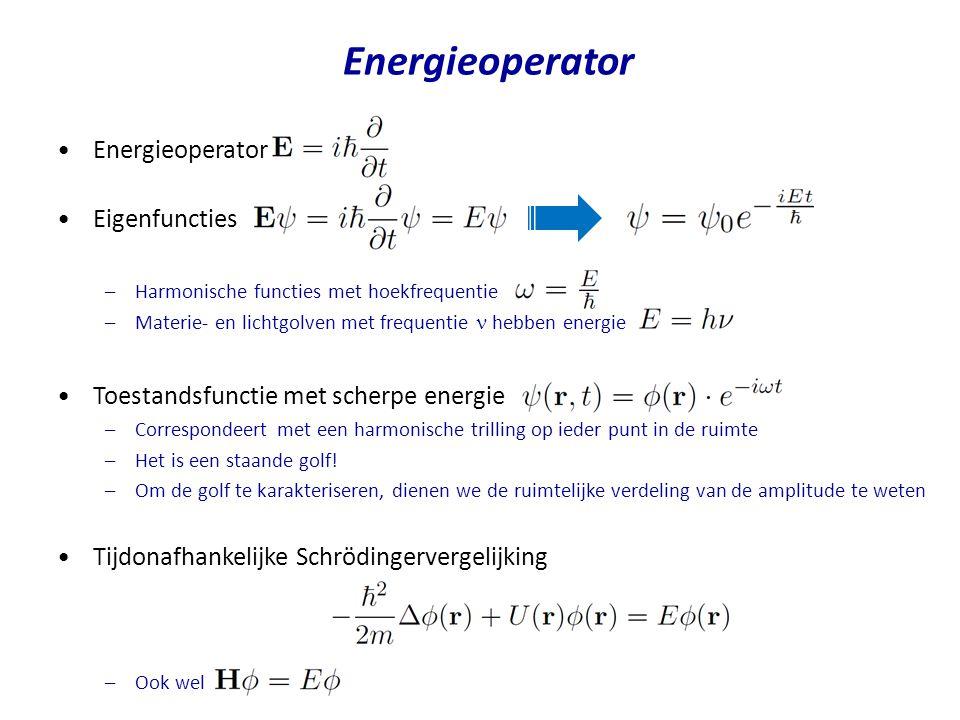 Energieoperator Energieoperator Eigenfuncties