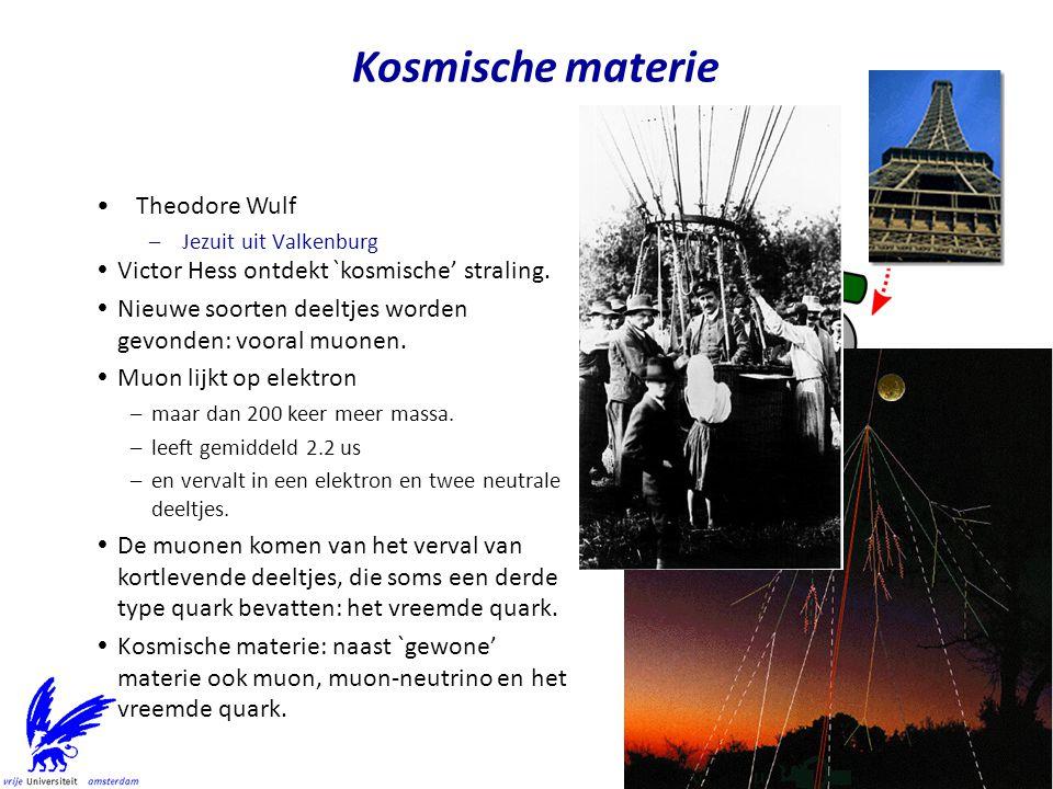 Kosmische materie Theodore Wulf