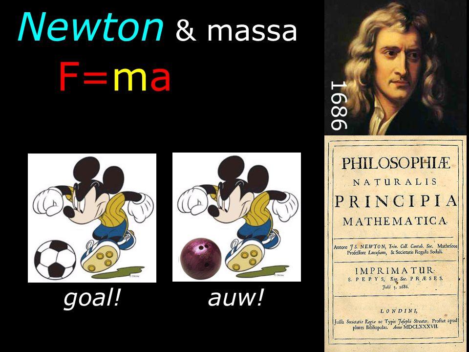 Newton & massa F=ma 1686 goal! auw!