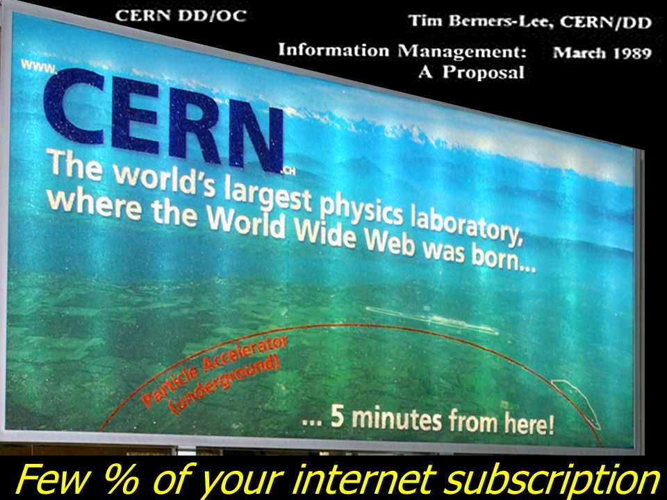 Few % of your internet subscription