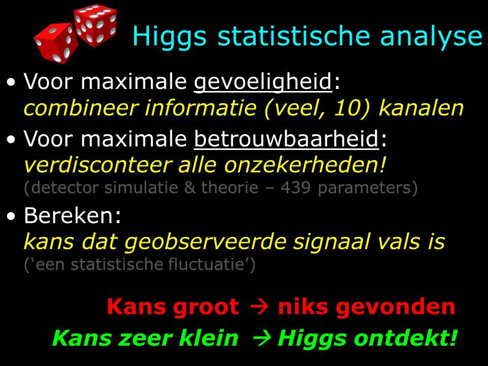 Higgs statistische analyse