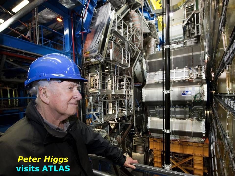 Peter Higgs visits ATLAS