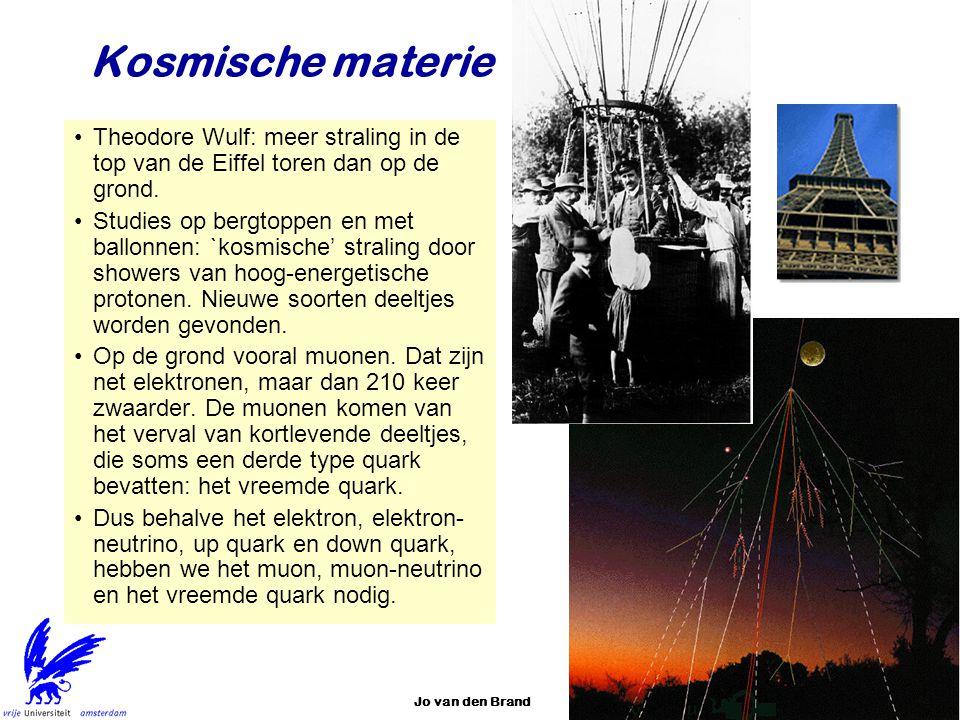 Kosmische materie Theodore Wulf: meer straling in de top van de Eiffel toren dan op de grond.