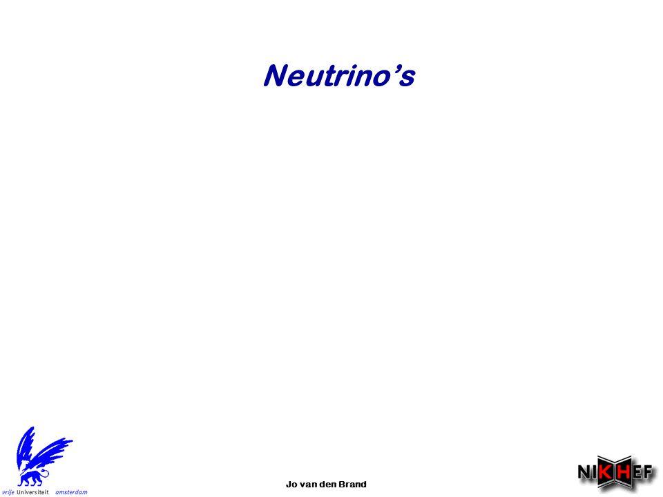 Neutrino's Jo van den Brand