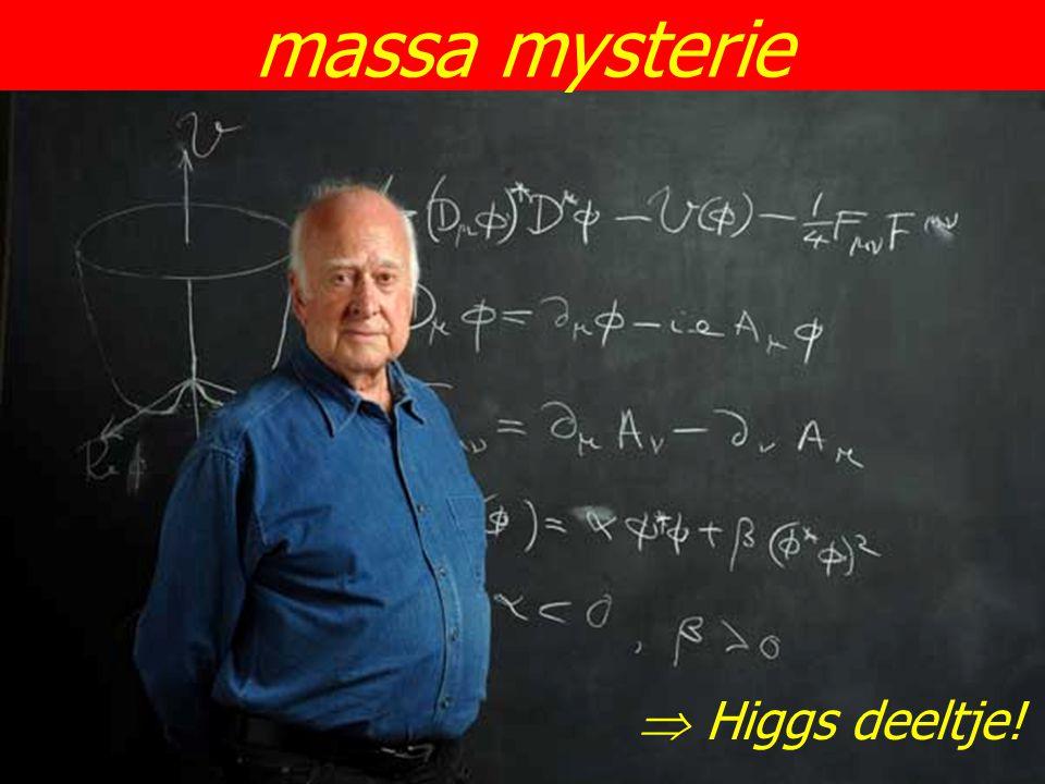 massa mysterie  Higgs deeltje!