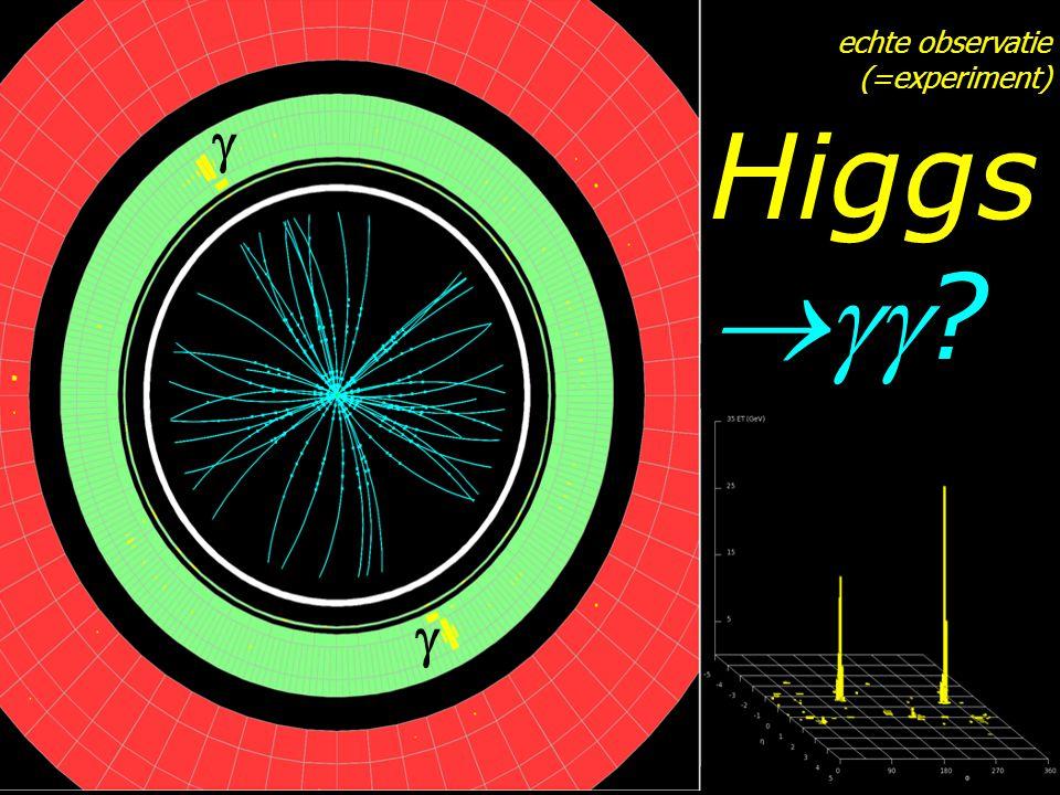echte observatie (=experiment) Higgs  