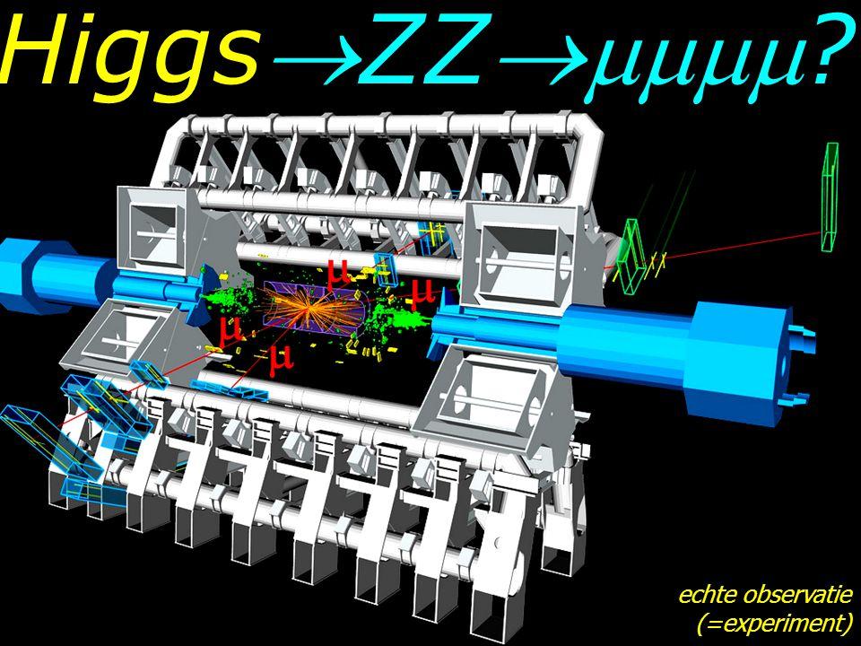 HiggsZZ     echte observatie (=experiment)