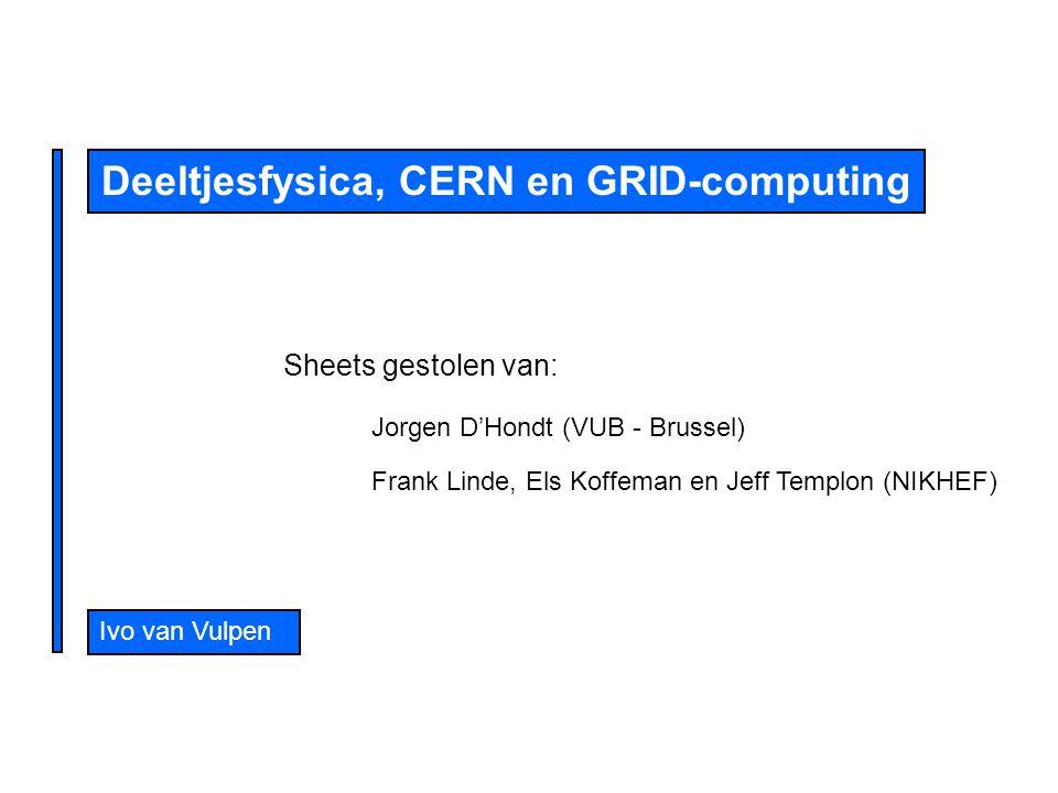 Deeltjesfysica, CERN en GRID-computing