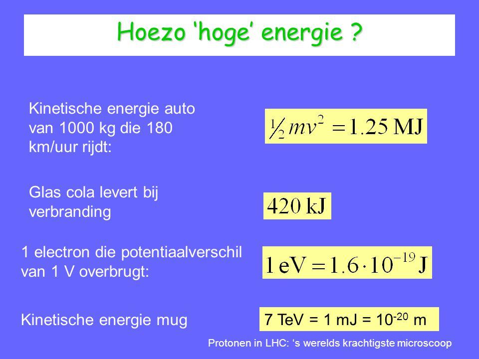 Hoezo 'hoge' energie Kinetische energie auto van 1000 kg die 180 km/uur rijdt: Glas cola levert bij verbranding.