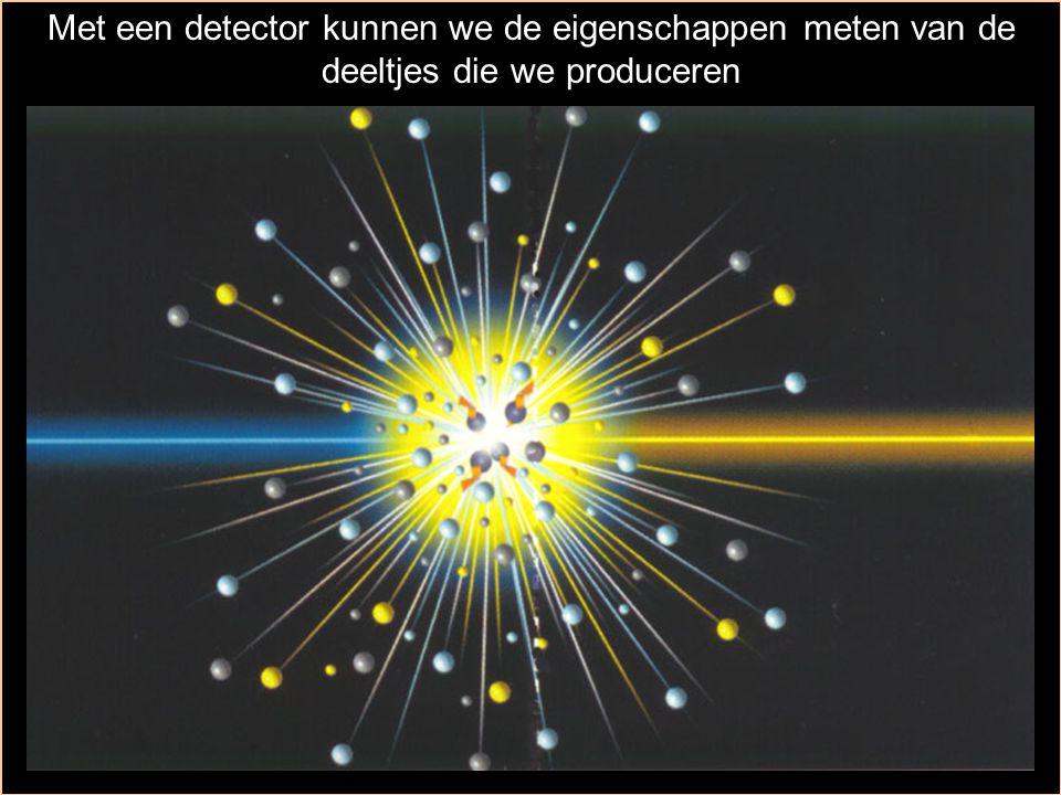Met een detector kunnen we de eigenschappen meten van de