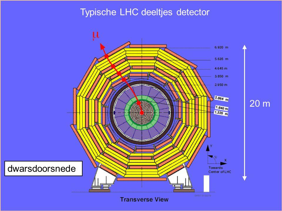 Typische LHC deeltjes detector