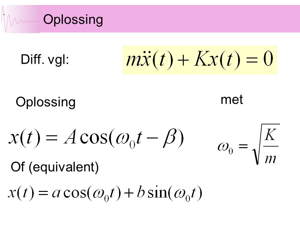 Oplossing Diff. vgl: met Oplossing Of (equivalent)