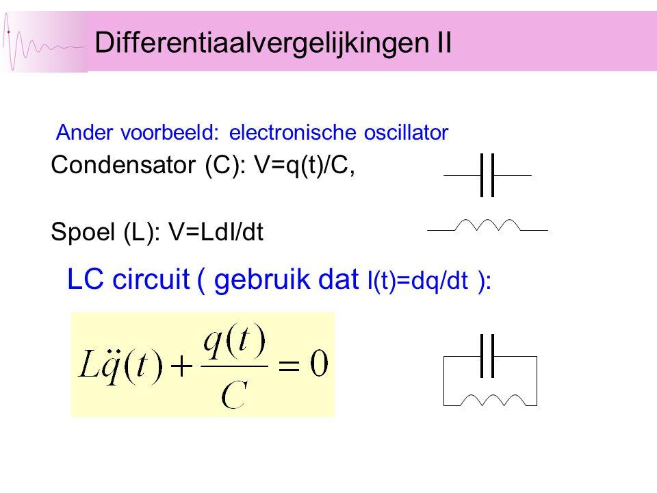 Differentiaalvergelijkingen II