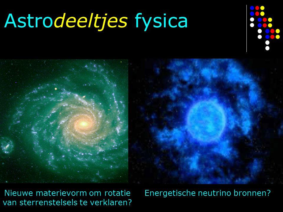 Astrodeeltjes fysica Energetische neutrino bronnen
