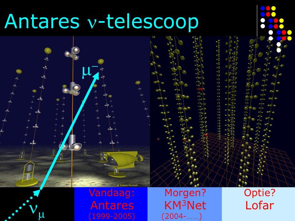 Antares -telescoop   Antares KM3Net Lofar Vandaag: Morgen Optie