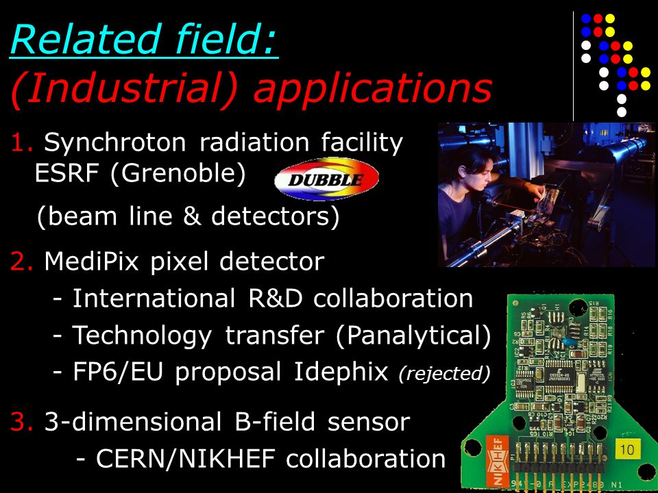 Related field: (Industrial) applications
