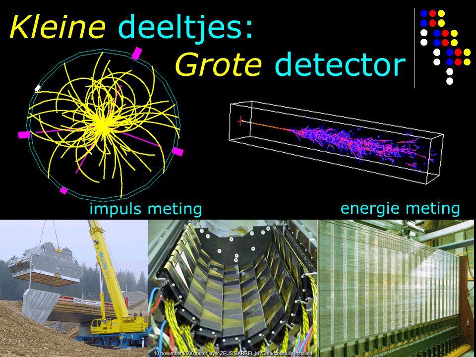 Kleine deeltjes: Grote detector