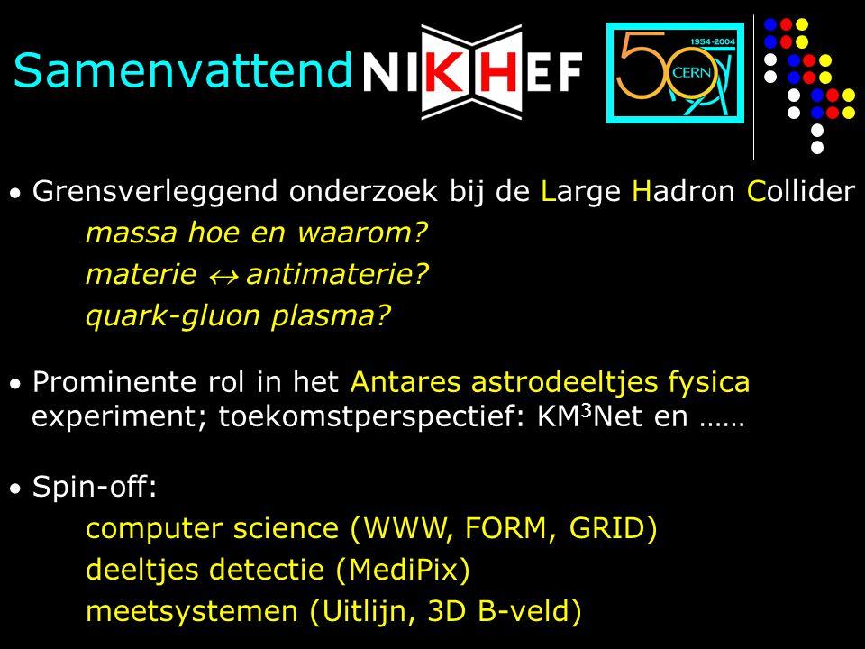Samenvattend  Grensverleggend onderzoek bij de Large Hadron Collider