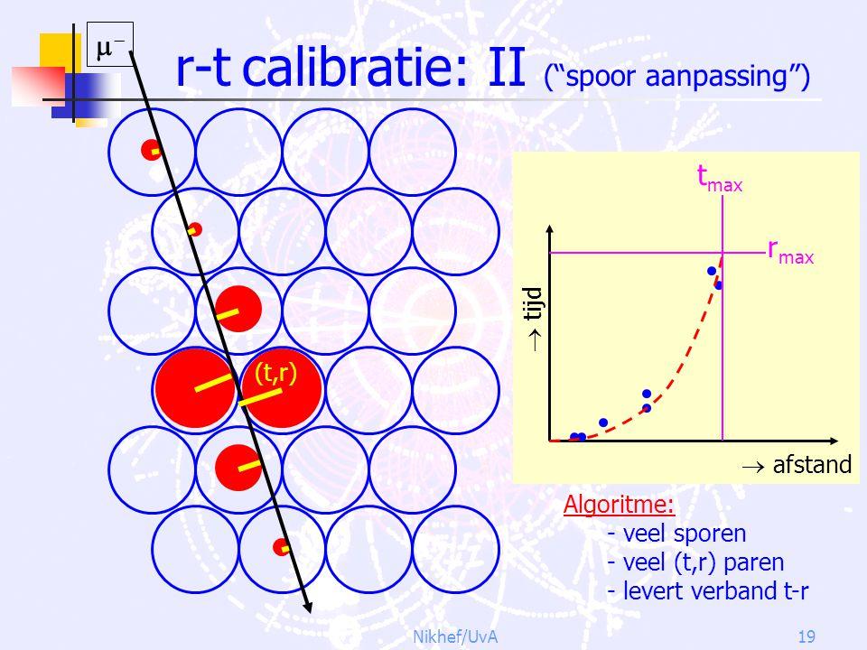 r-t calibratie: II ( spoor aanpassing )