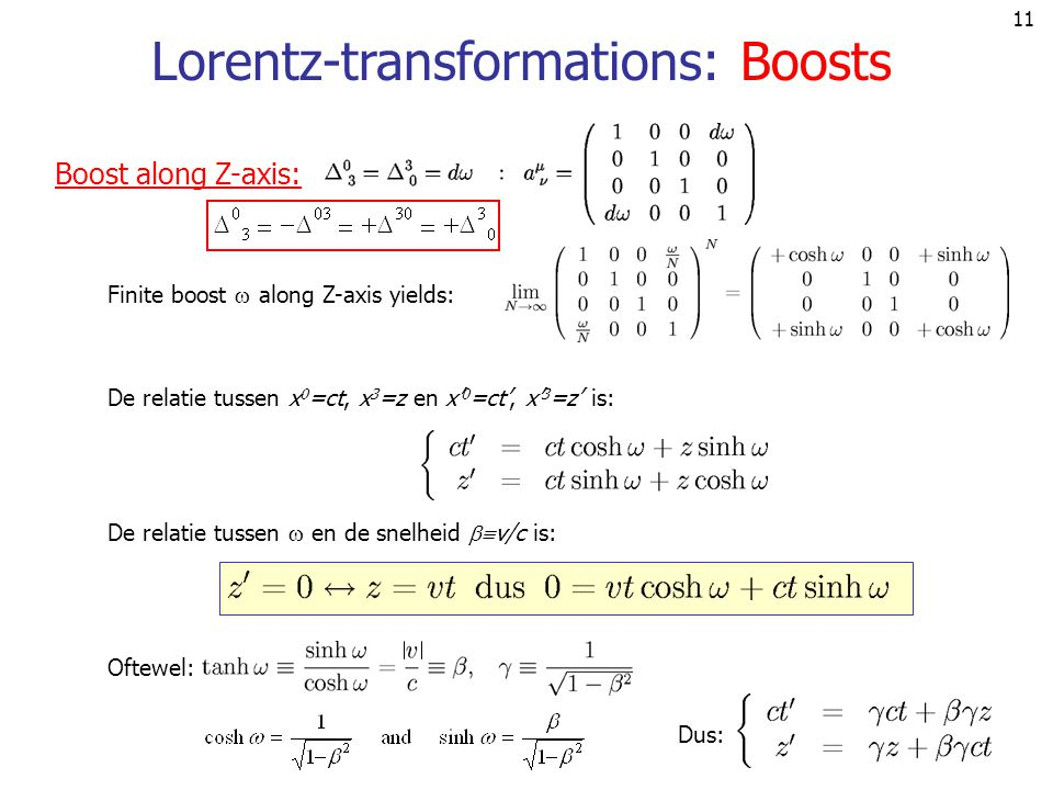 Lorentz-transformations: Boosts