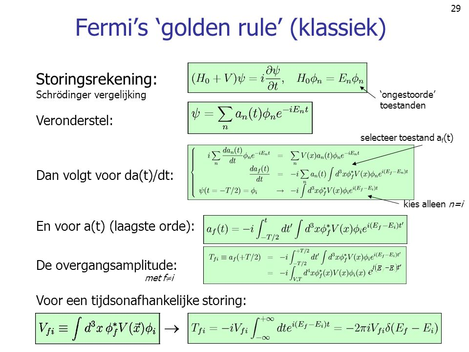 Fermi's 'golden rule' (klassiek)