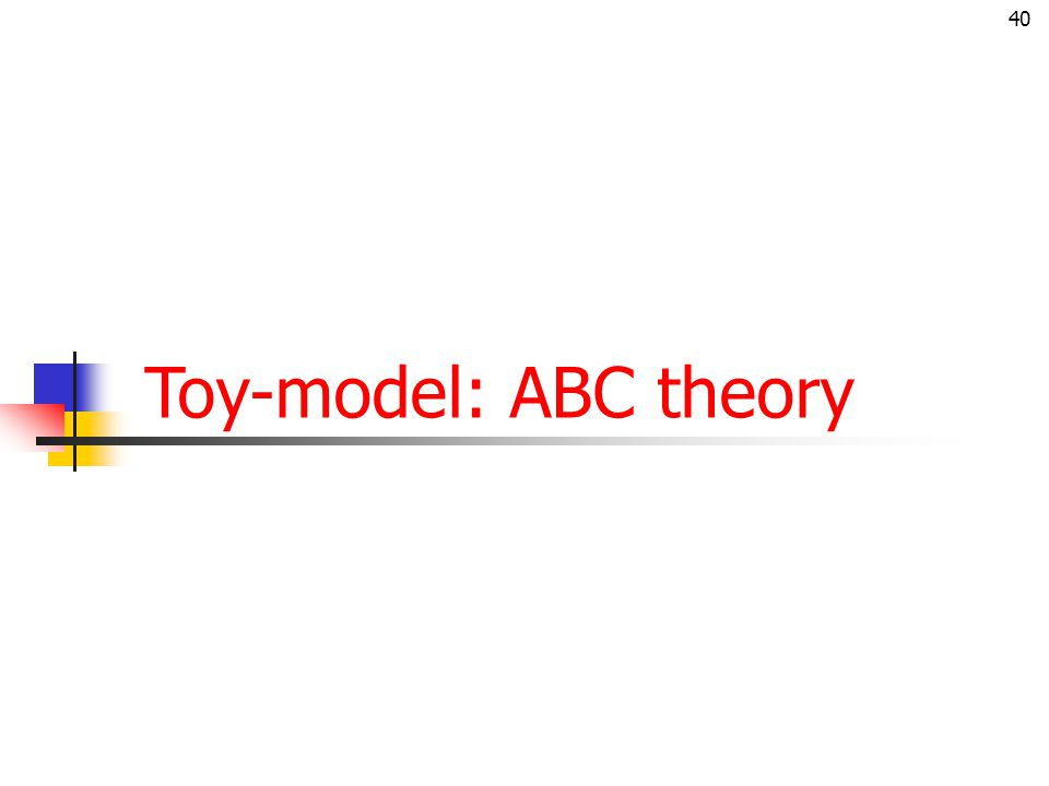 Toy-model: ABC theory