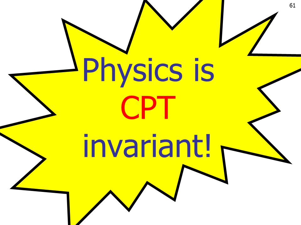 Physics is CPT invariant!
