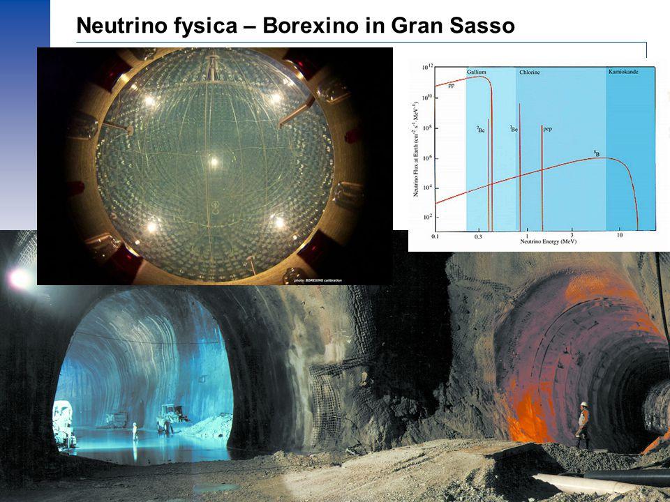 Neutrino fysica – Borexino in Gran Sasso