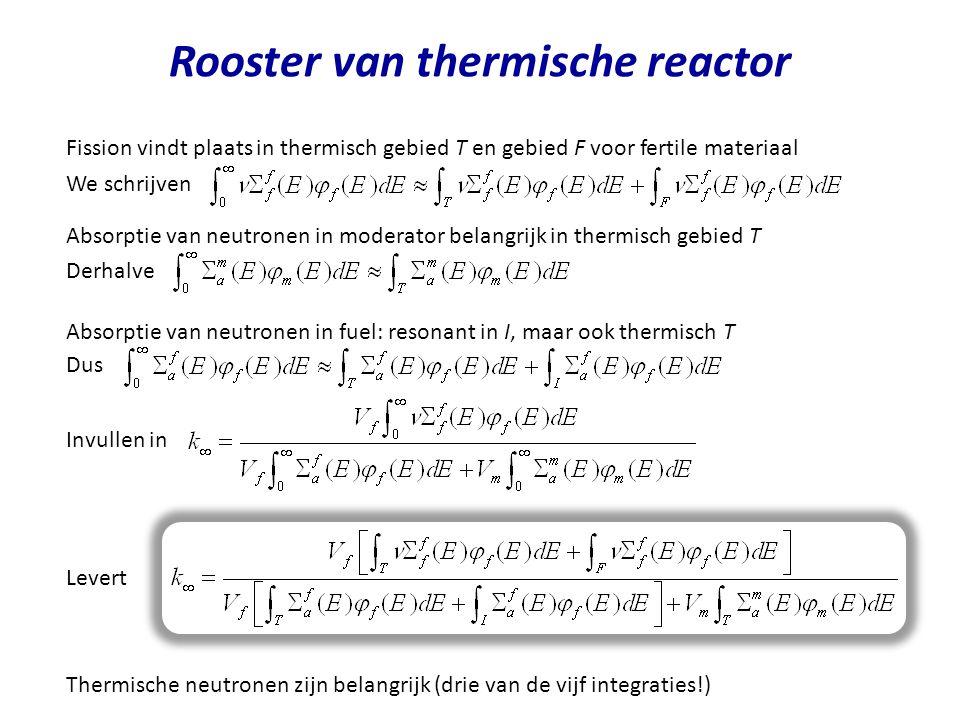 Rooster van thermische reactor