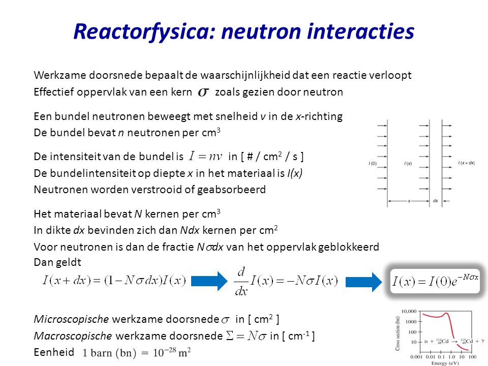 Reactorfysica: neutron interacties