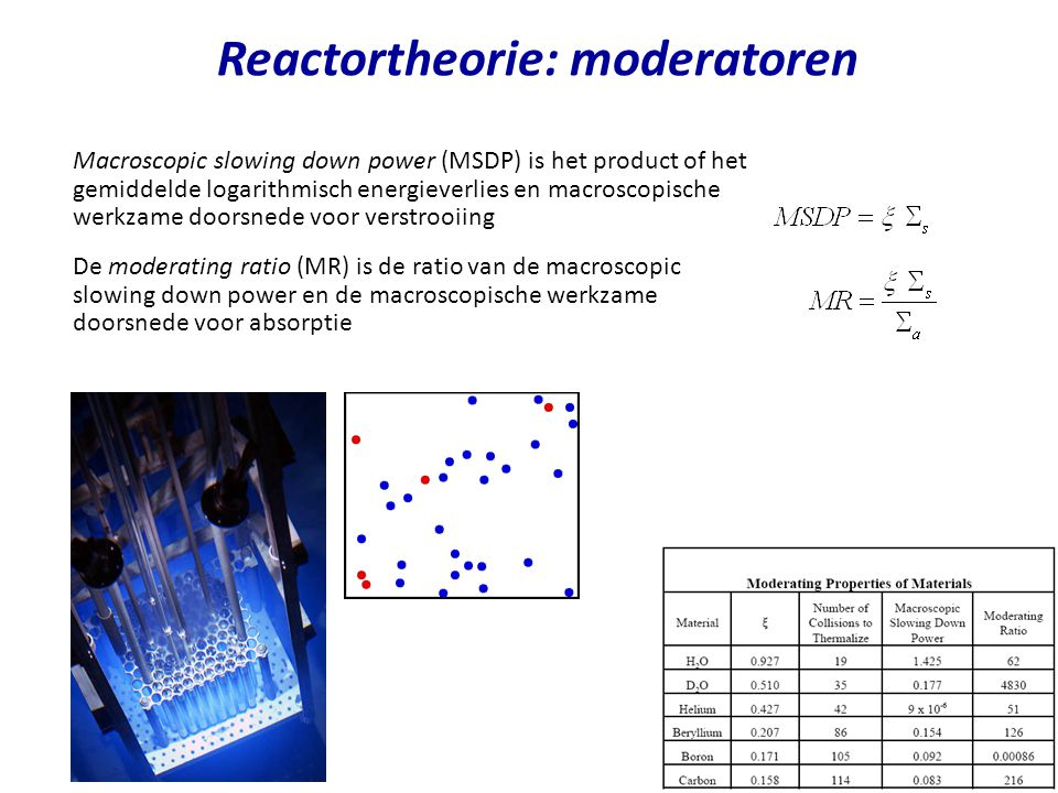 Reactortheorie: moderatoren
