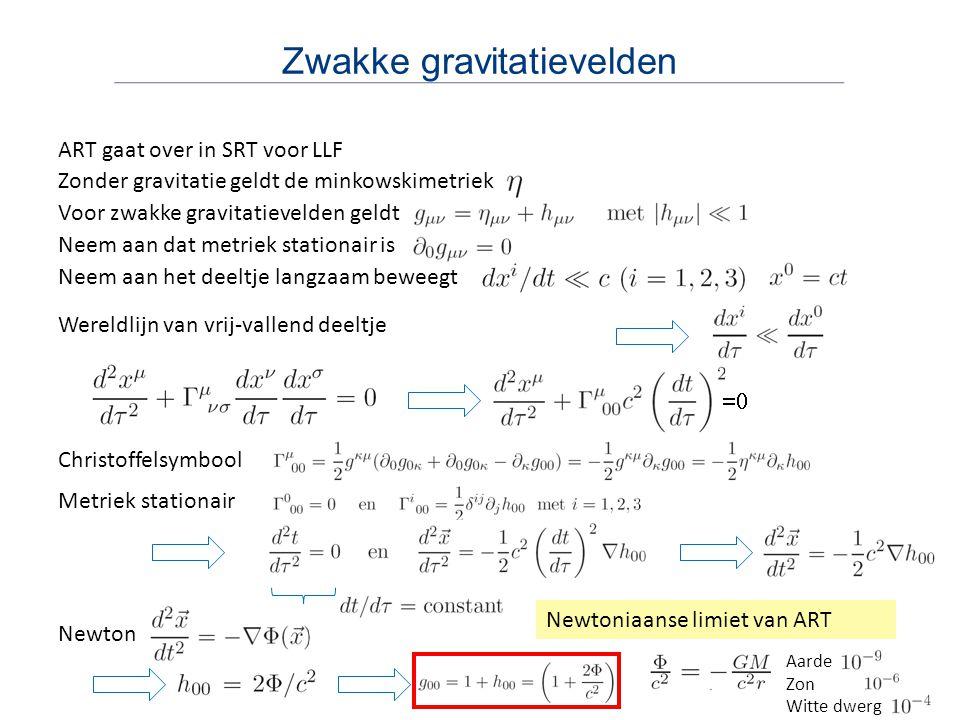 Zwakke gravitatievelden