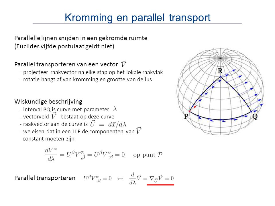 Kromming en parallel transport