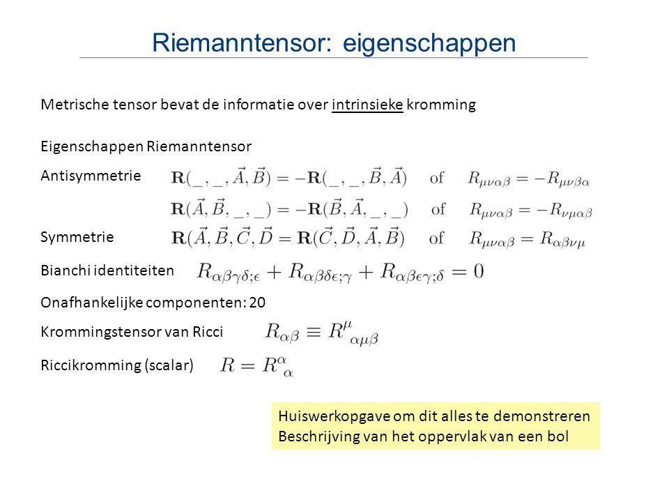 Riemanntensor: eigenschappen