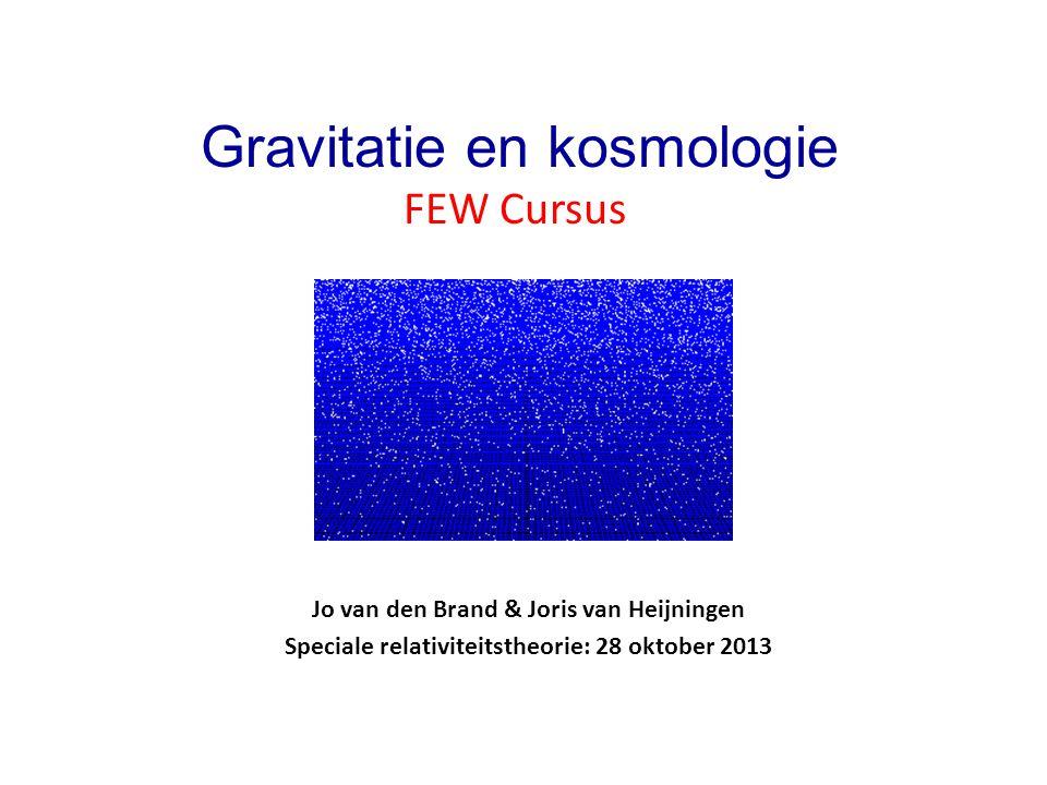 FEW Cursus Gravitatie en kosmologie
