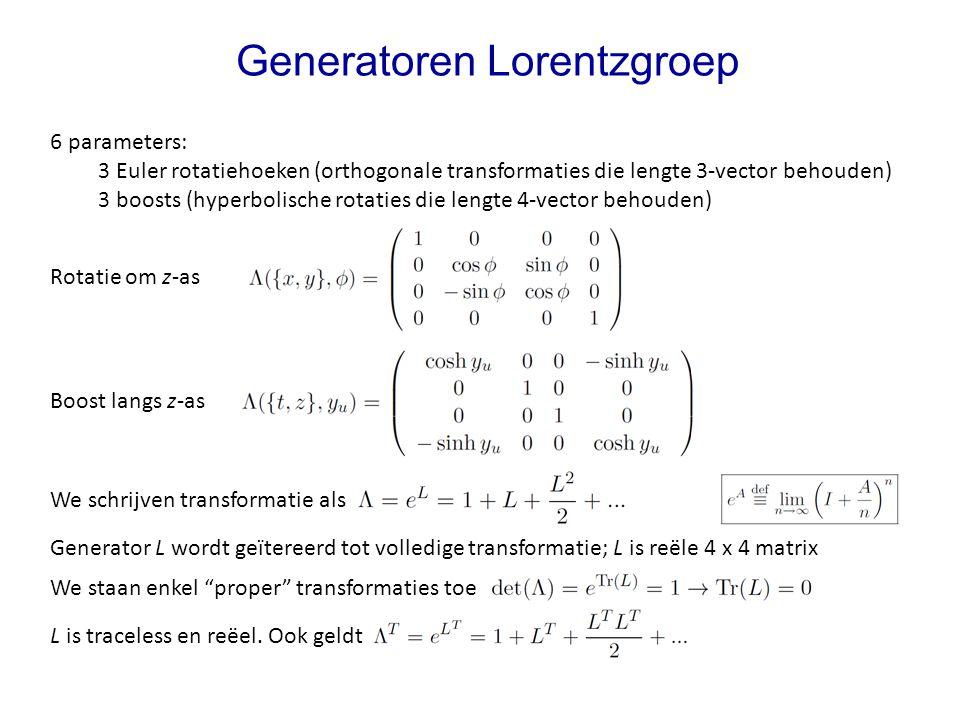 Generatoren Lorentzgroep