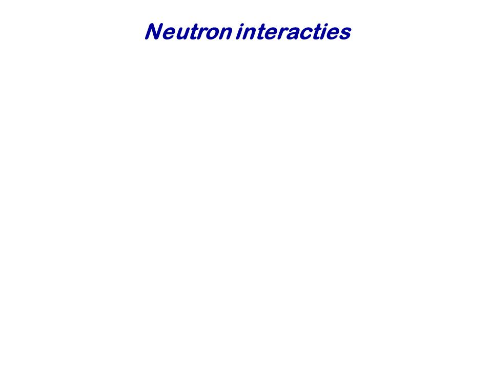 Neutron interacties