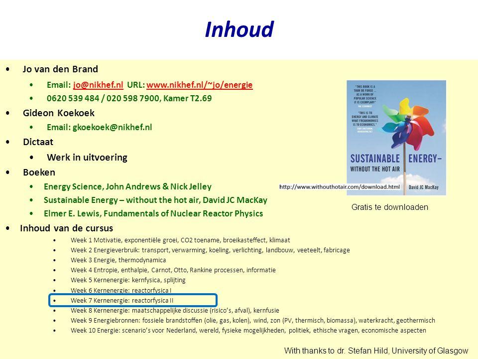 Inhoud Jo van den Brand Gideon Koekoek Dictaat Werk in uitvoering