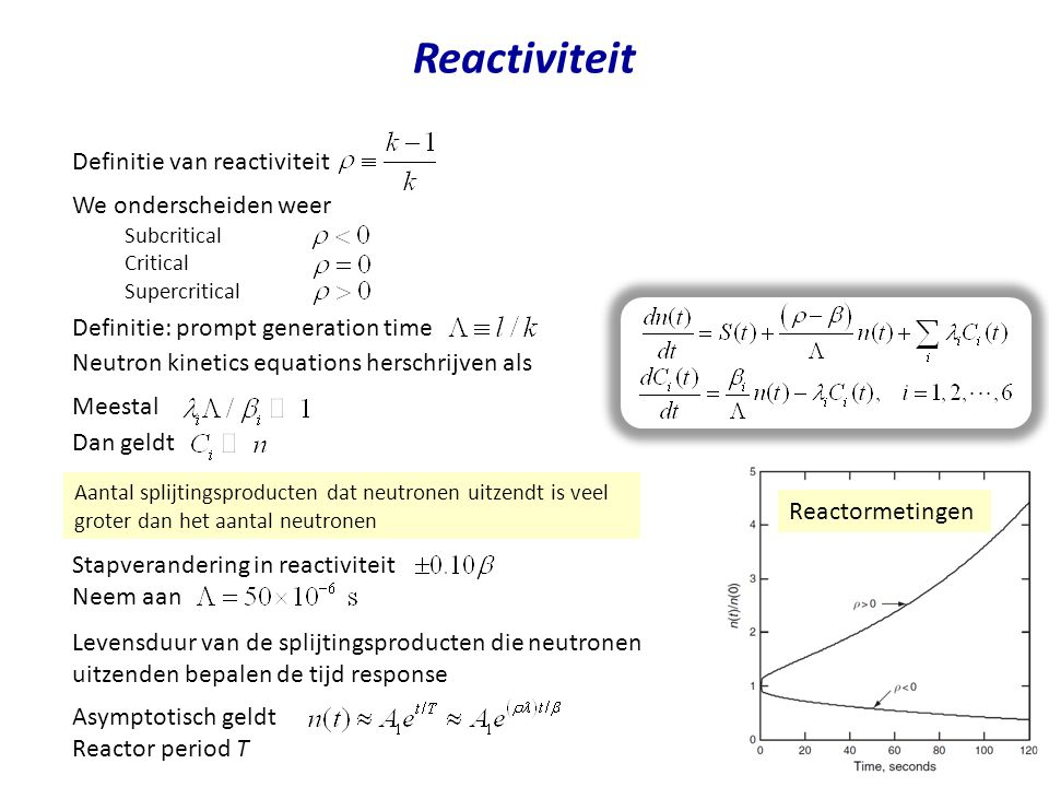 Reactiviteit Definitie van reactiviteit We onderscheiden weer